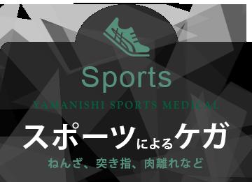 スポーツによるケガ